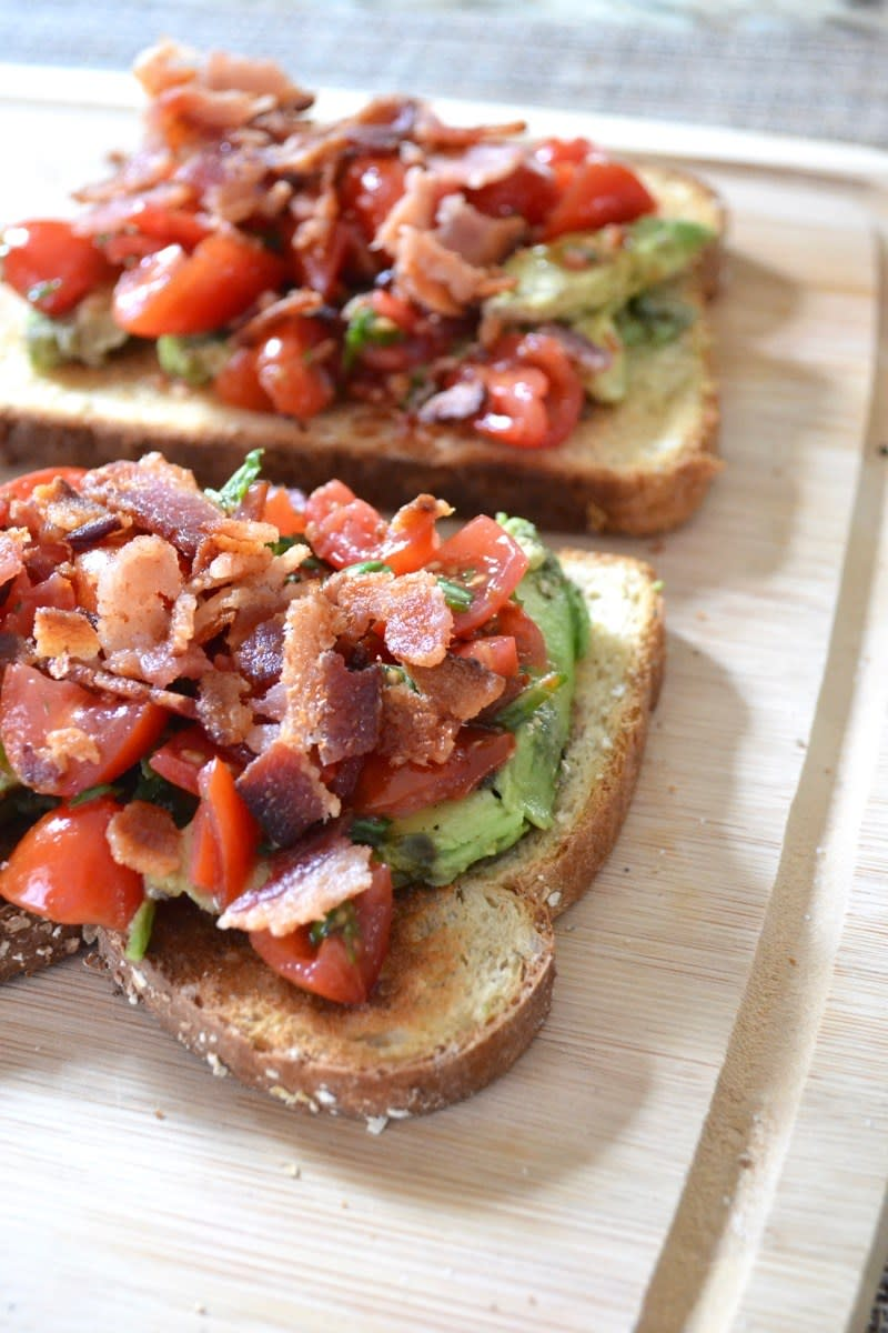 Bacon Bruschetta Avocado Toast