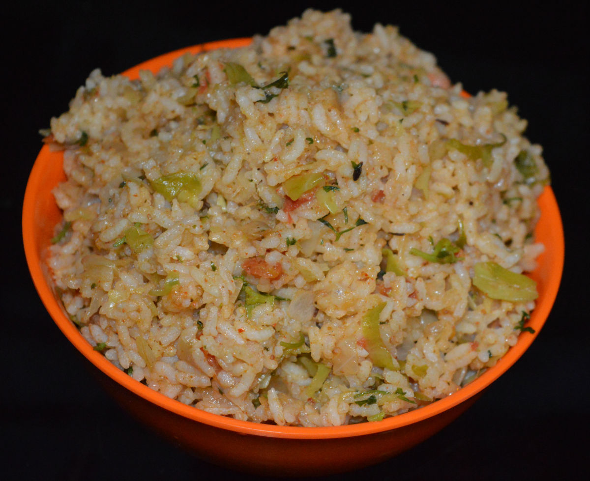 Spiced cabbage rice