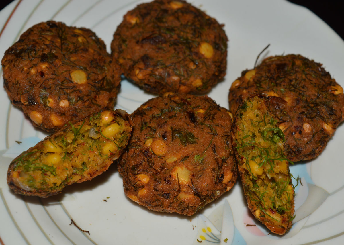 Step five: Split bengal gram fritters or dal vada