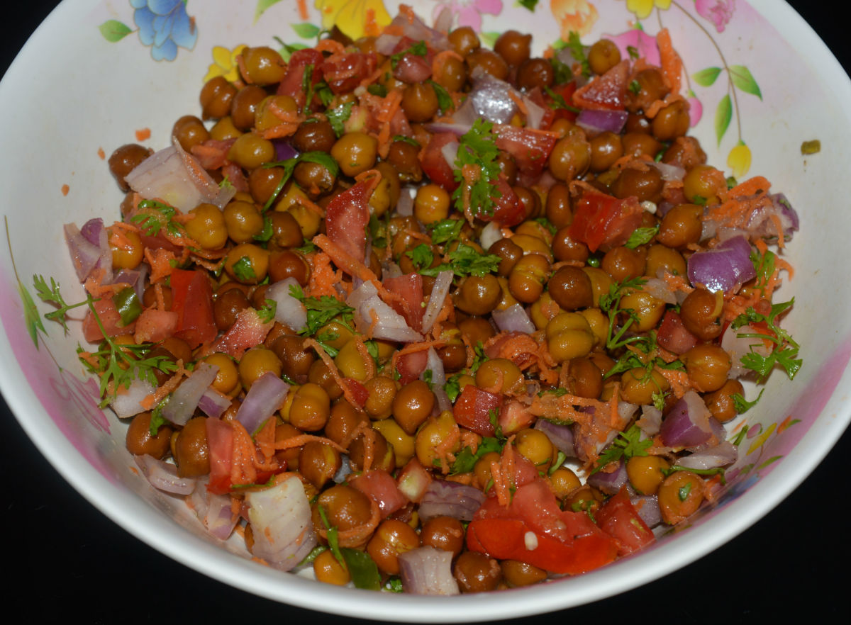 A big bowl of the chickpea salad.