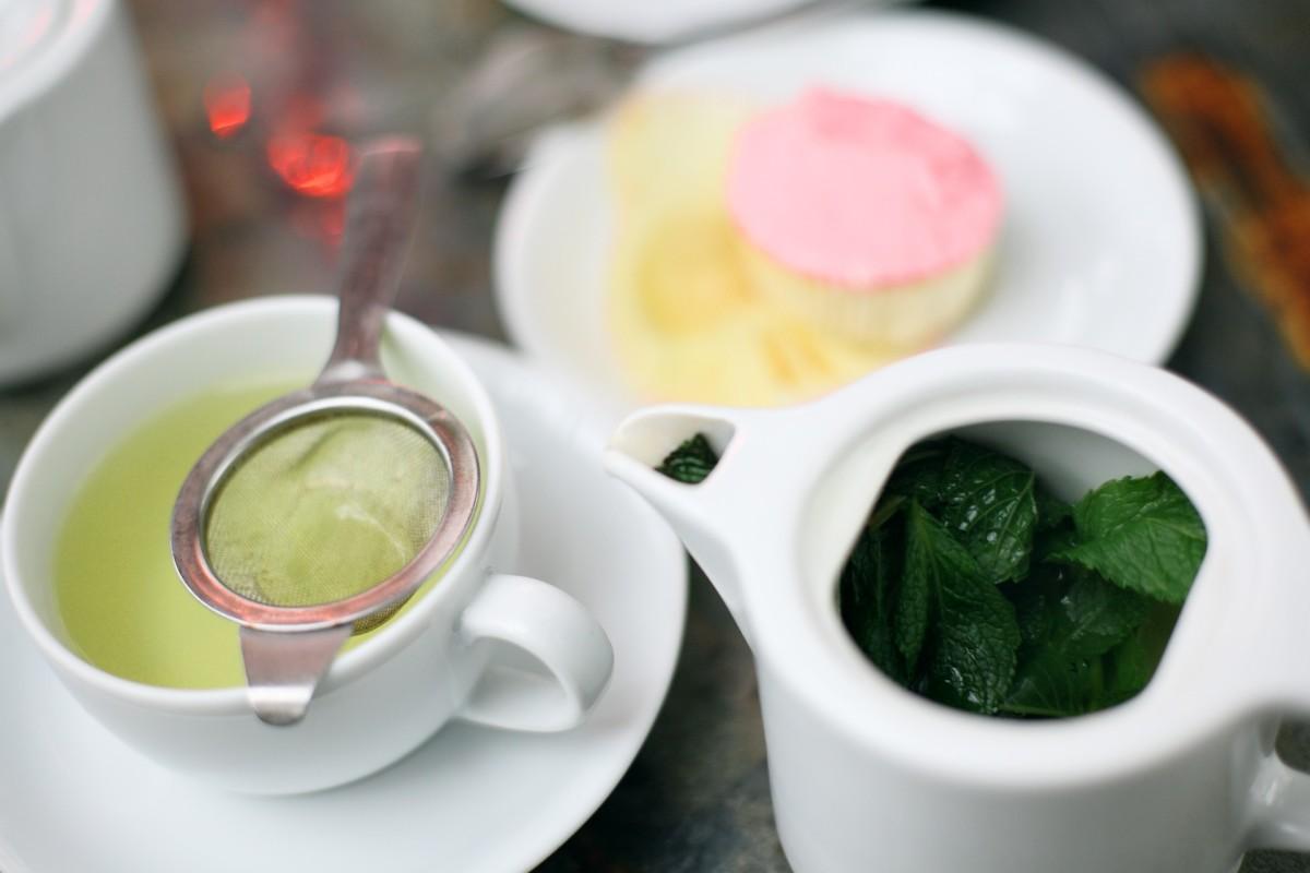 tea with a mini strainer