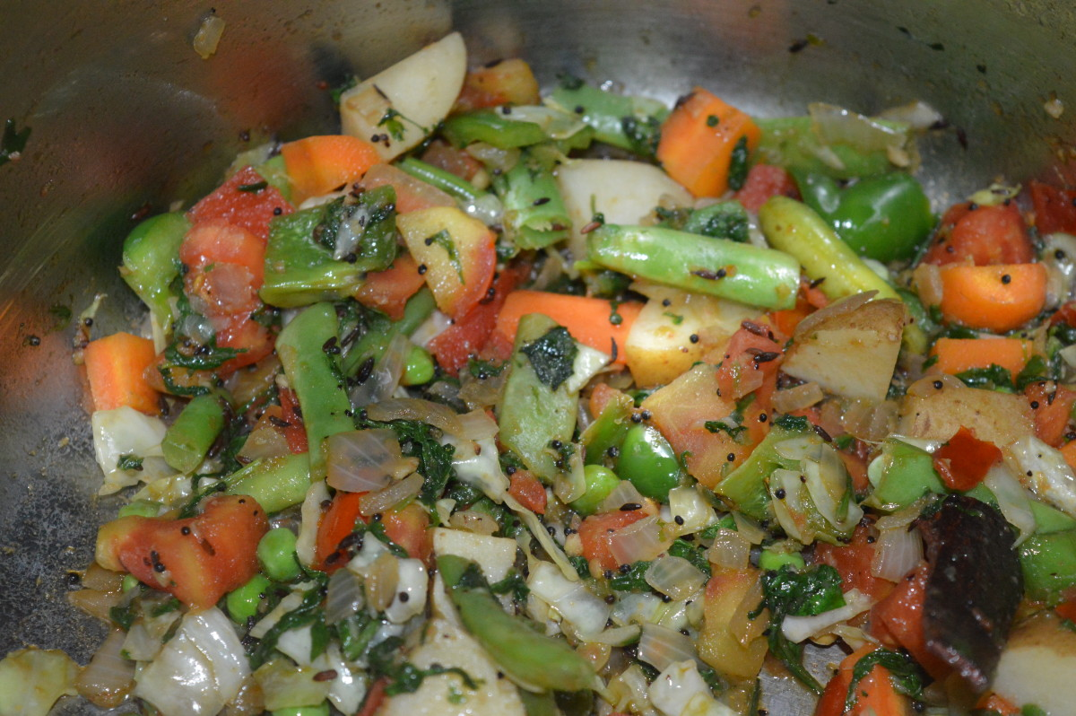Sautéing vegetables