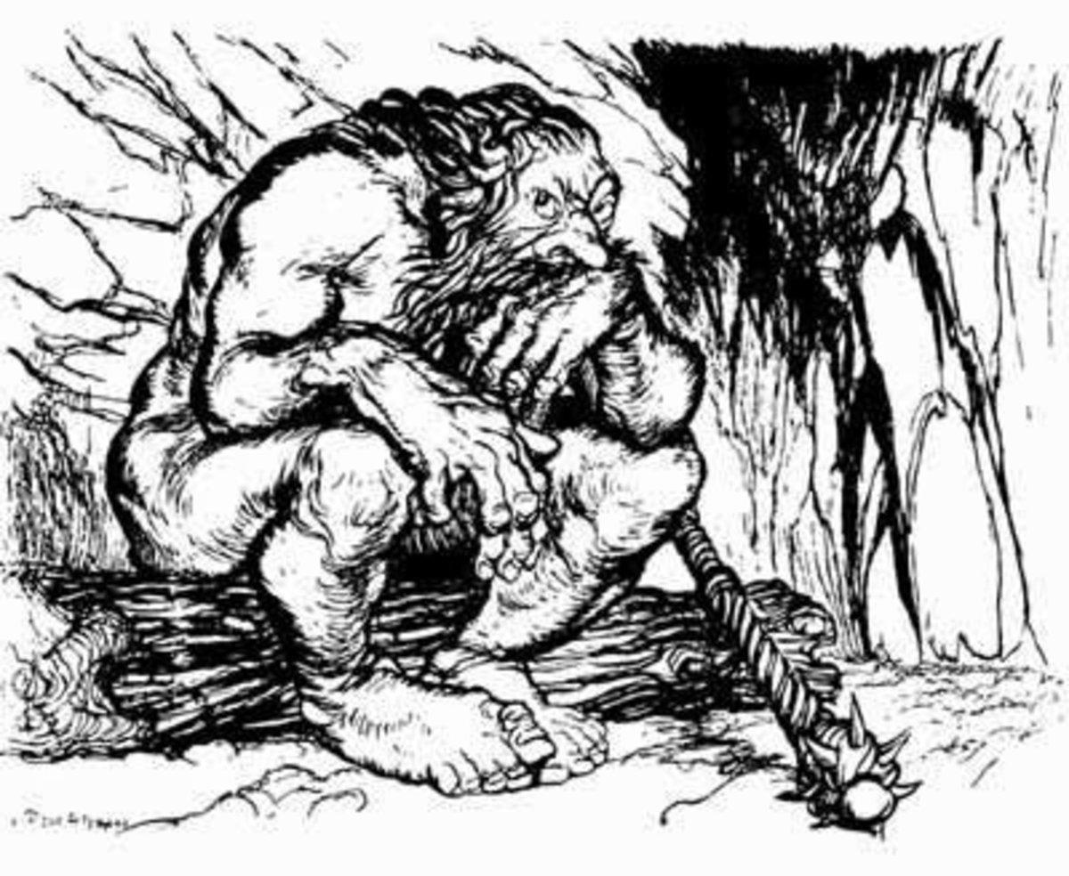 Beanstalk Giant (Arthur Rackham)