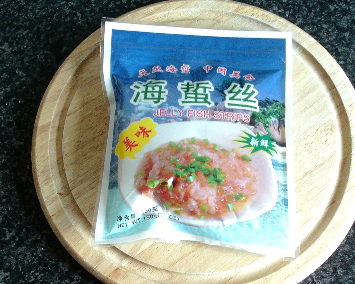 Ready to eat jellyfish strips
