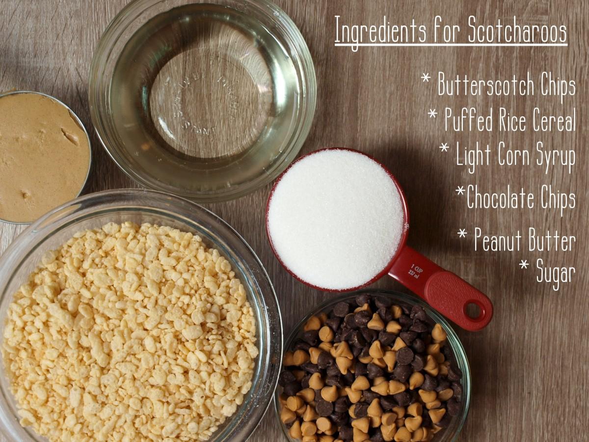 Ingredients for Scotcharoos
