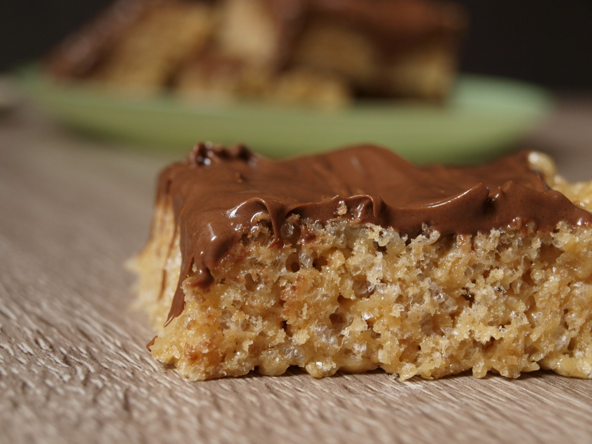 Peanut butter, chocolate and butterscotch goodness, Scotcharoos are delicious!