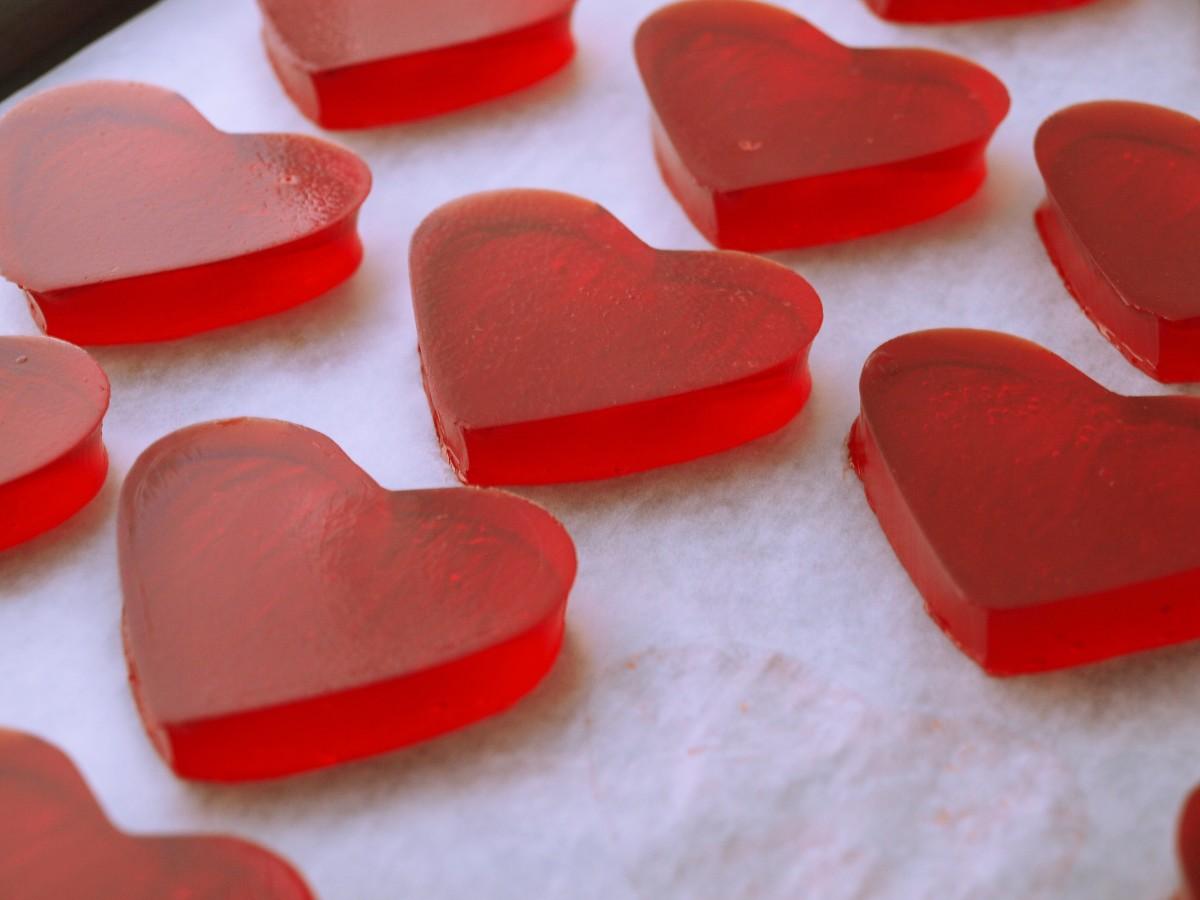 Jell-O Jiggler Hearts