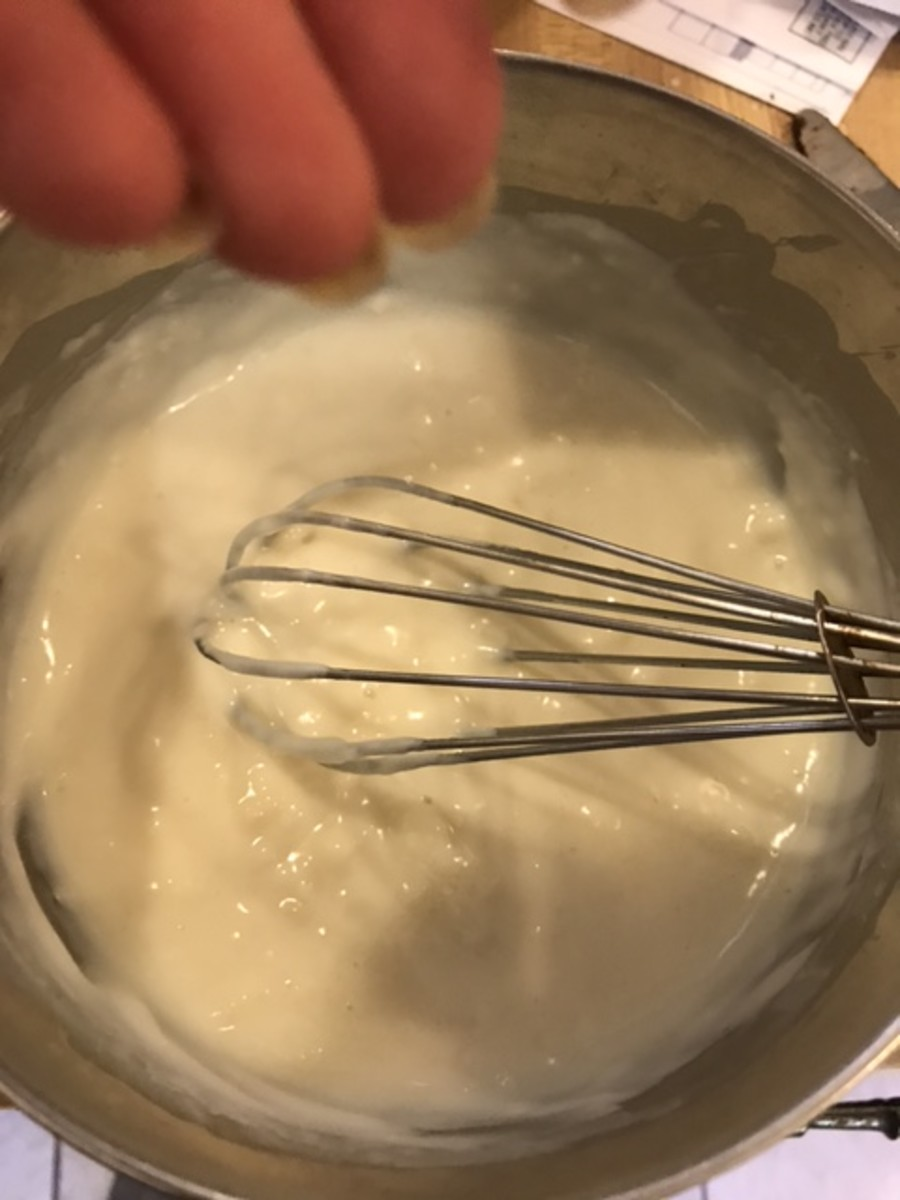 Just a pinch of salt is all that is needed for this frosting. A tiny bit of salt really wakes up the flavors and actually enhances the sweetness of the frosting and rich, complex flavors.