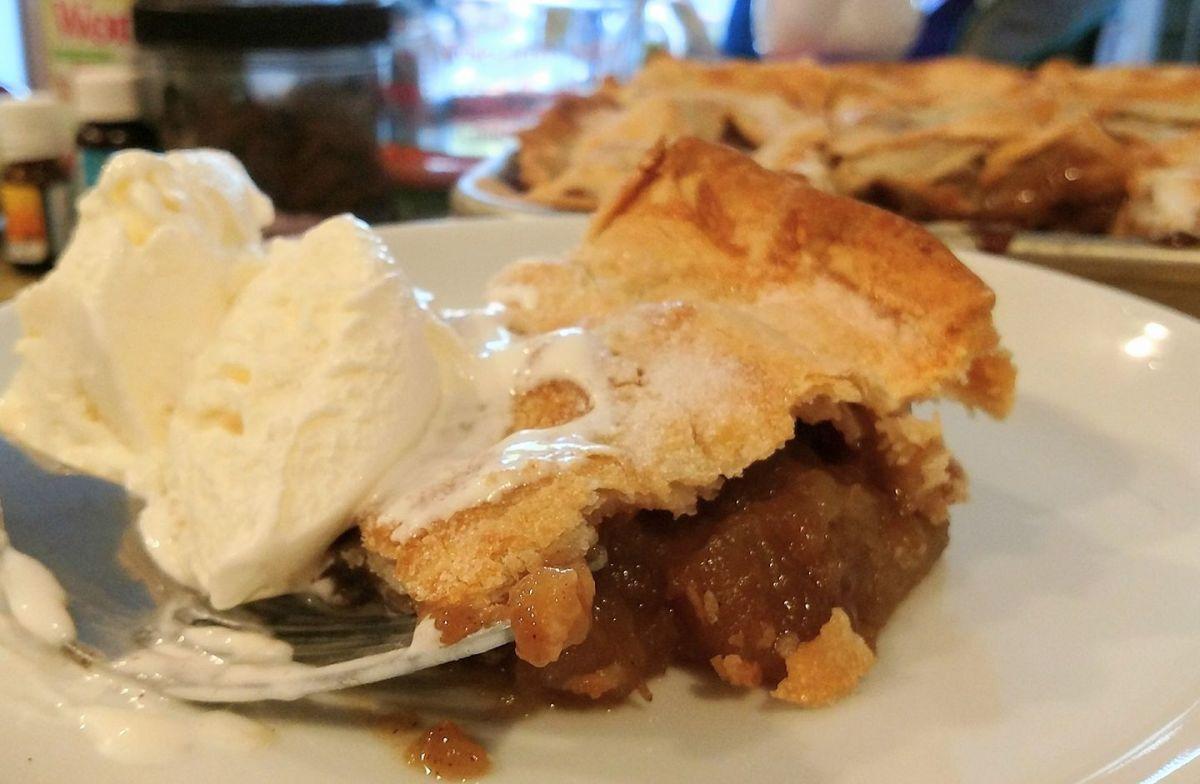 We always scream for ice cream on my farmhouse apple slab pie!