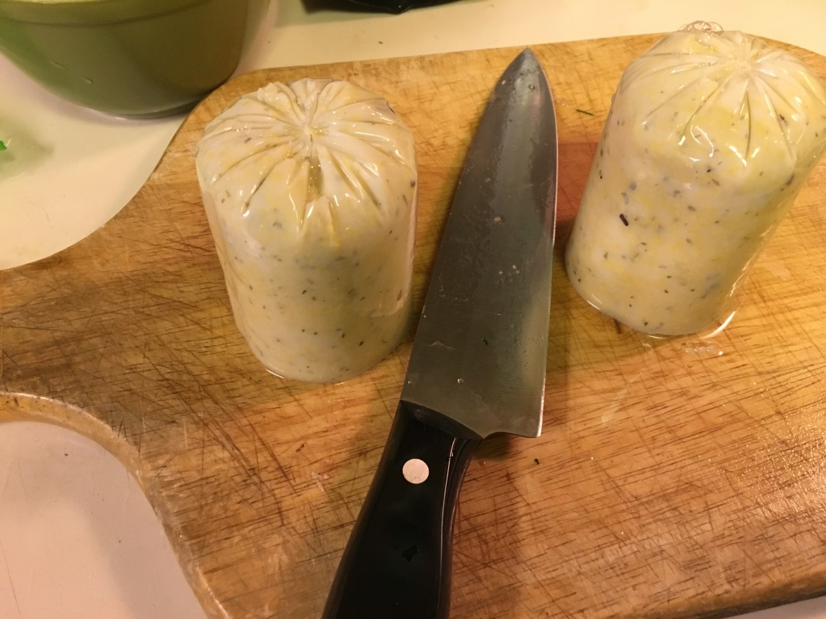 Slice tube of Polenta in half and gently squeeze contents onto a cutting board