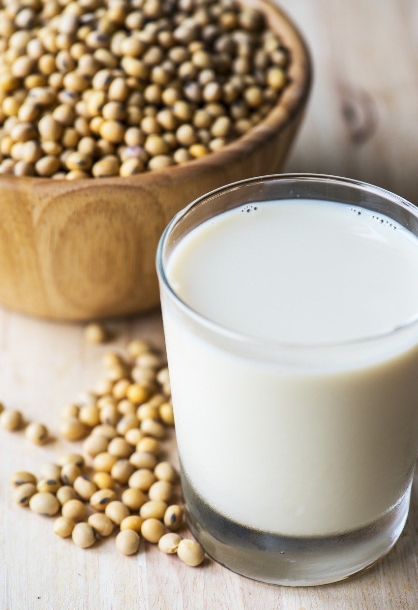 soy beans and milk