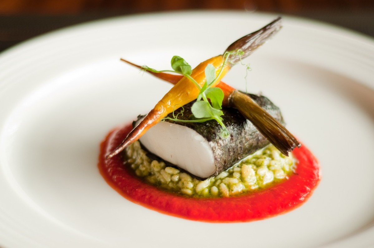 Artful presentation is an essential part of fine dining