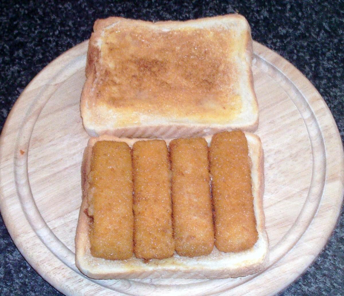 Fish fingers on toast