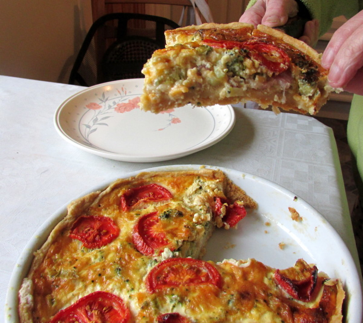 Quiche is perfect for lunch or a snack.