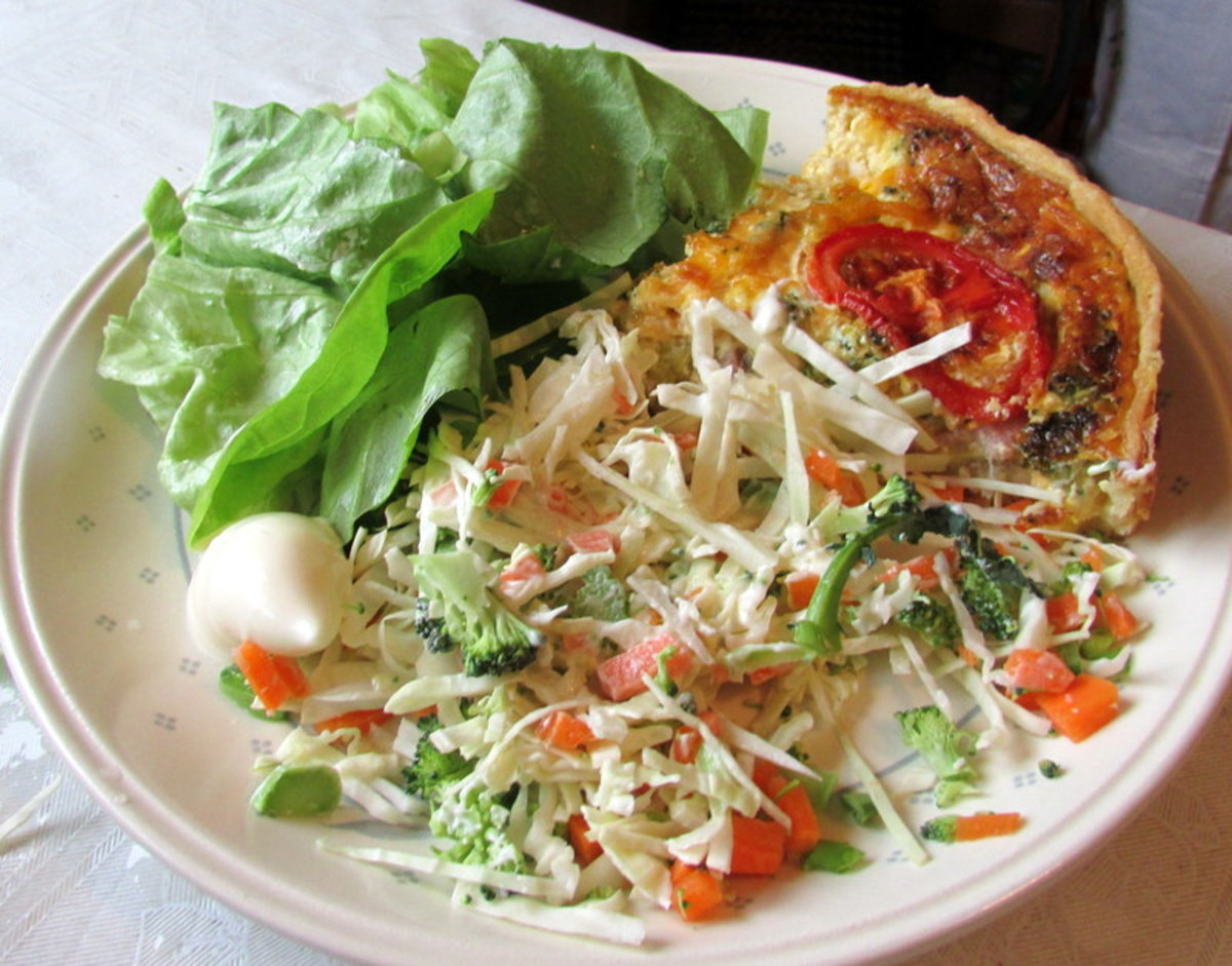 Serve the Quiche with a side salad.