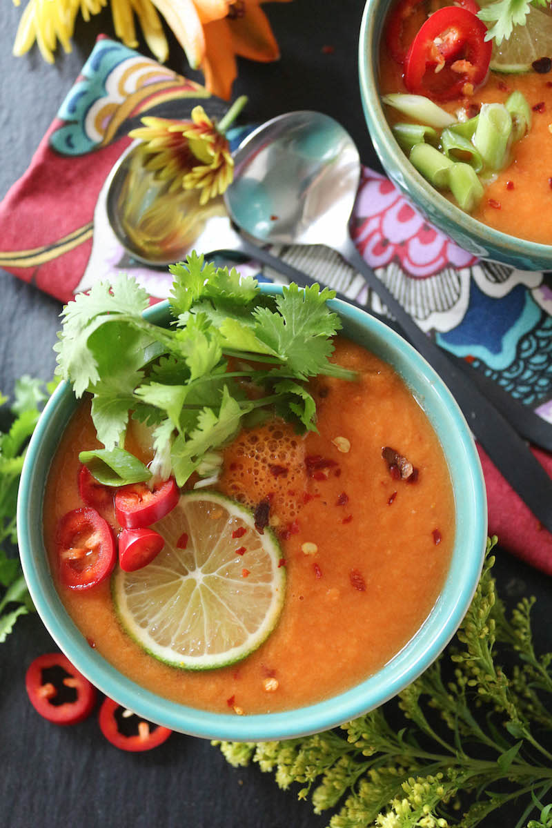 Thai Carrot and Cucumber Gazpacho