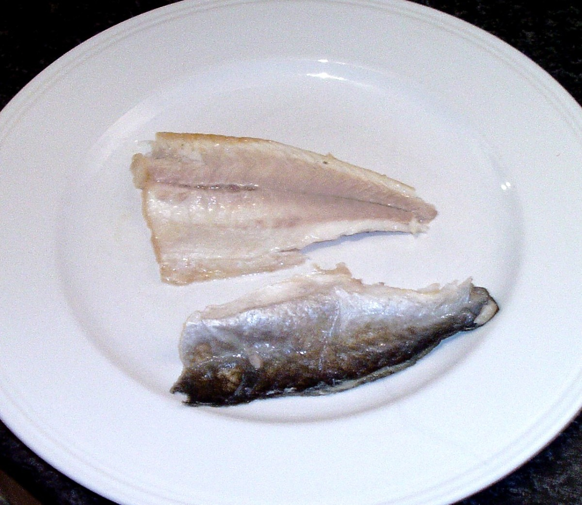 Crisped skin peels easily from cooked fish sillet