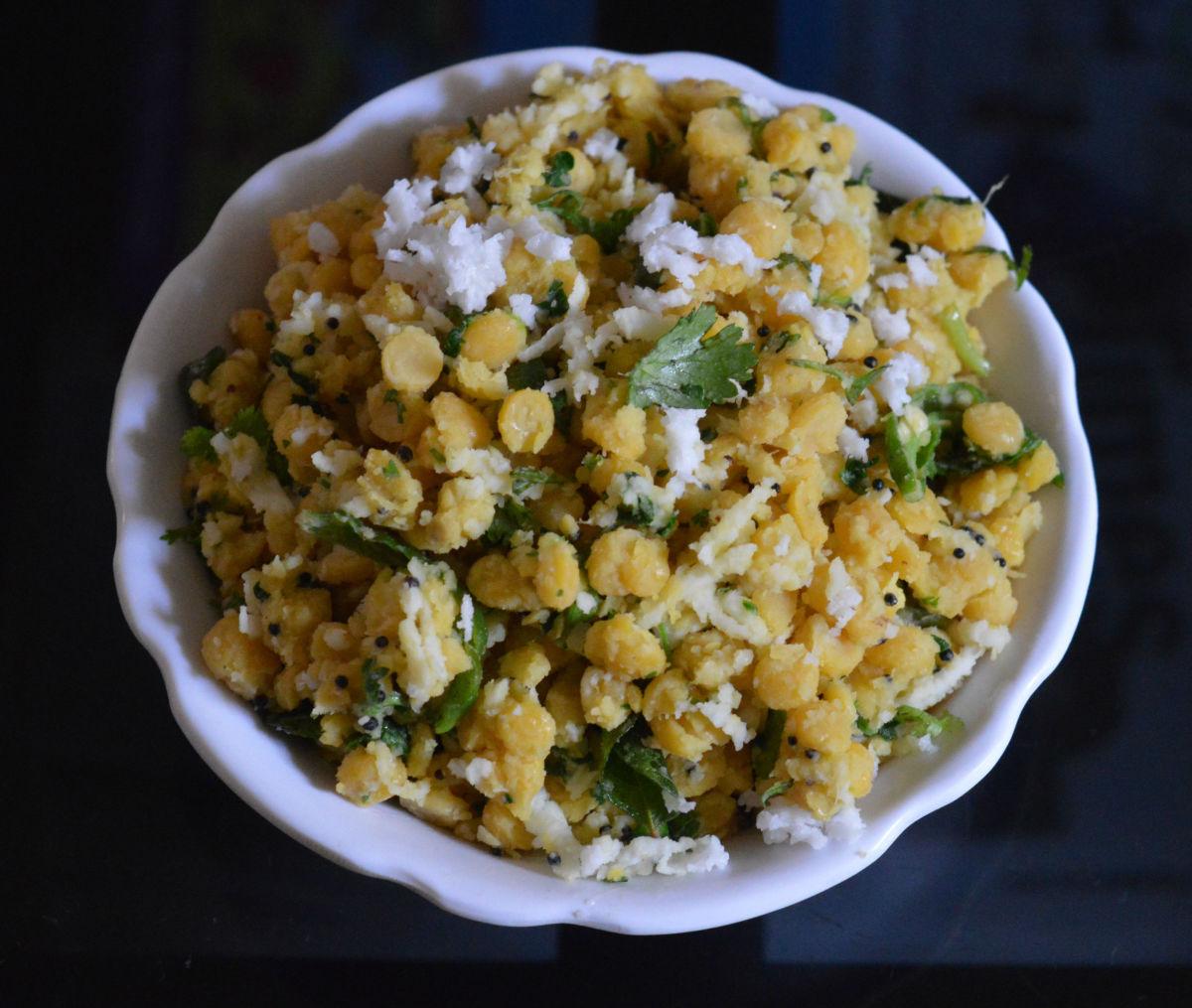 A big bowl of tasty, healthy usli.