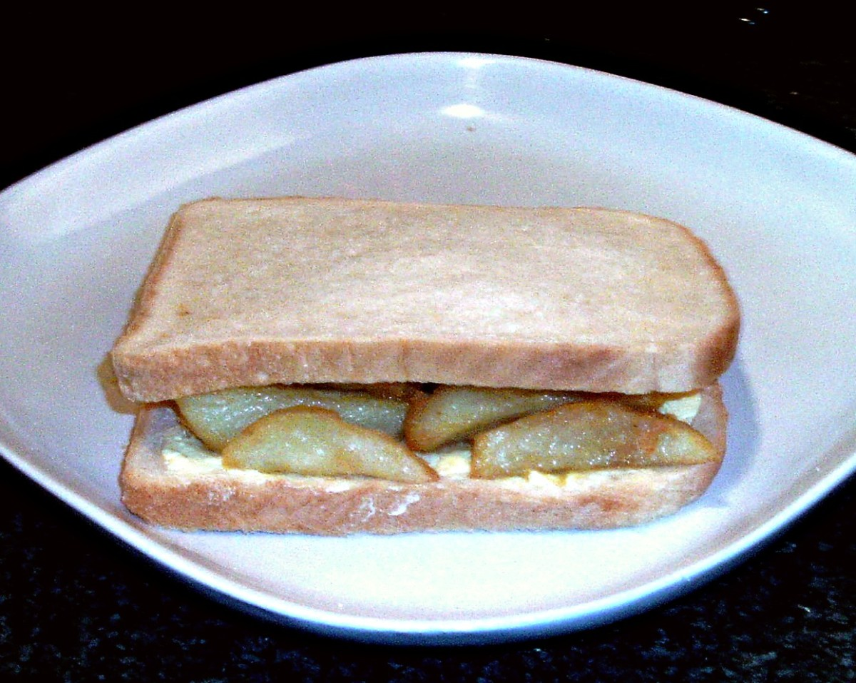 Traditional chip butty