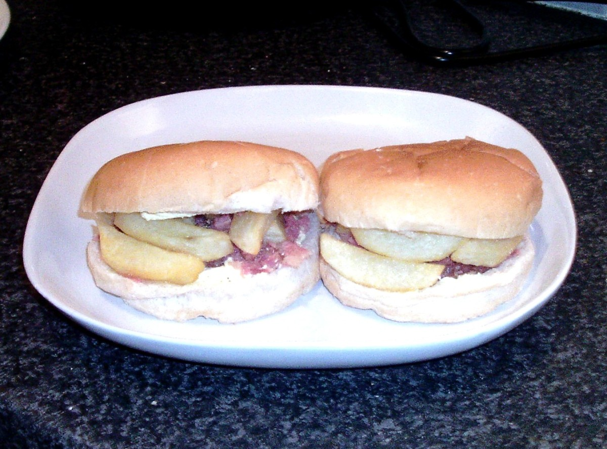 Brawn and cracked black pepper chip butty