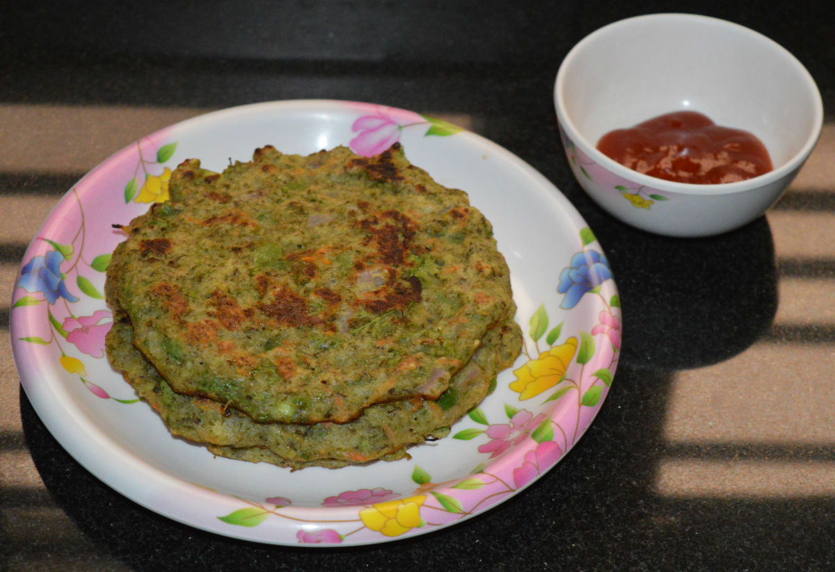 Mung bean pancakes are healthy, savory, and filling.