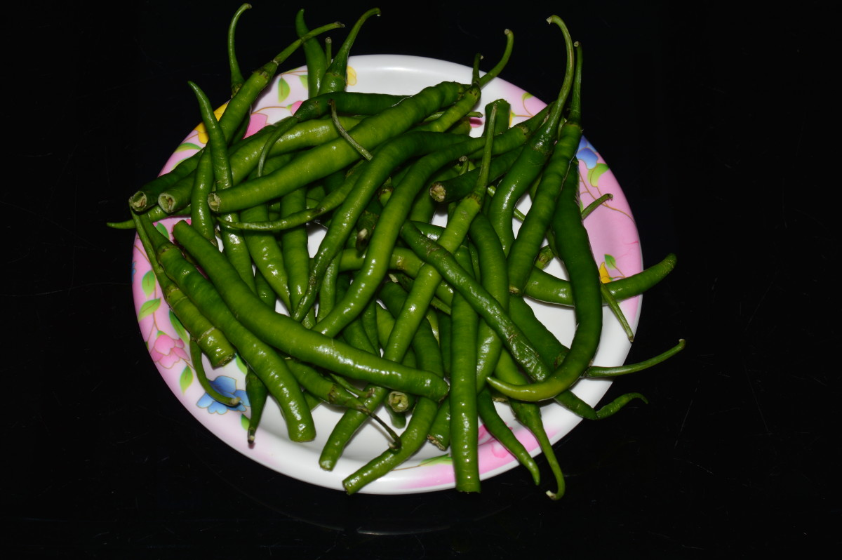 Long green chilies