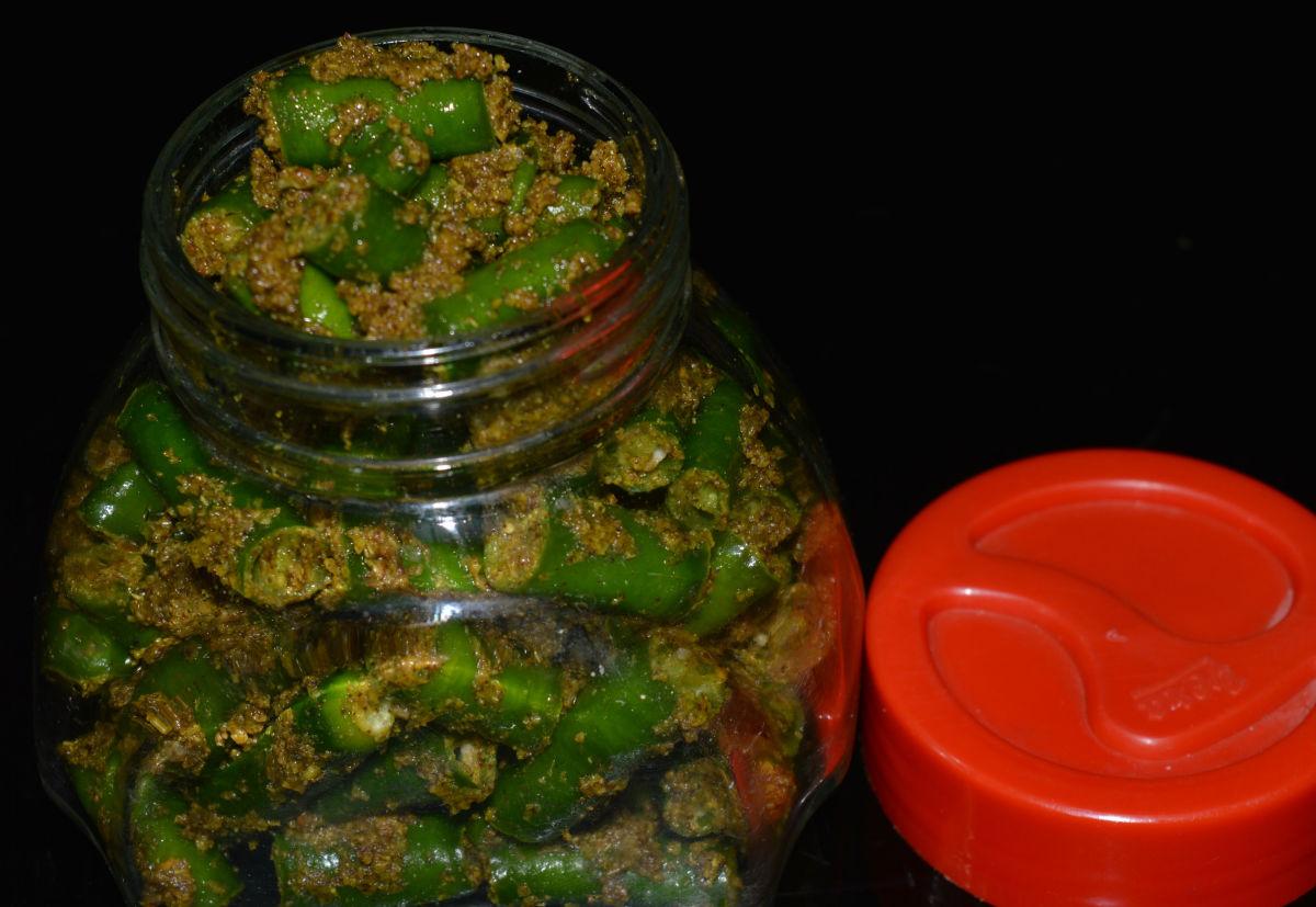 instant-green-chili-pickle-recipe