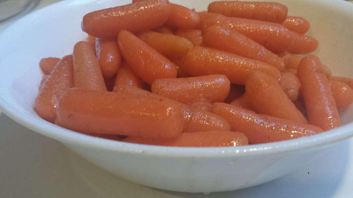 The completed glazed carrots.