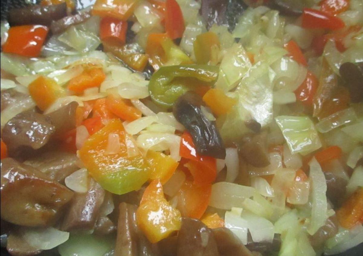 Sauteed vegetables. Add last.