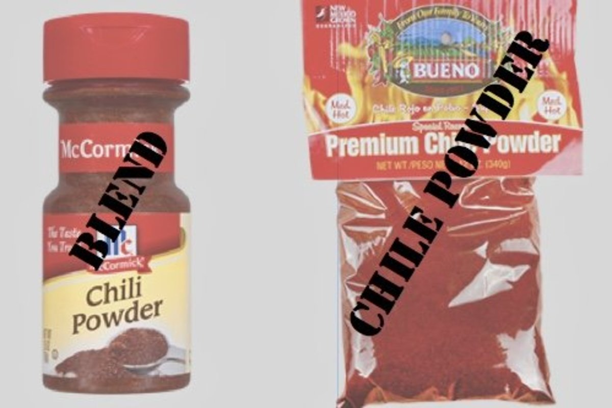 """The term """"chili"""" indicates a spice blend; """"chile"""" indicates powdered red chile peppers."""