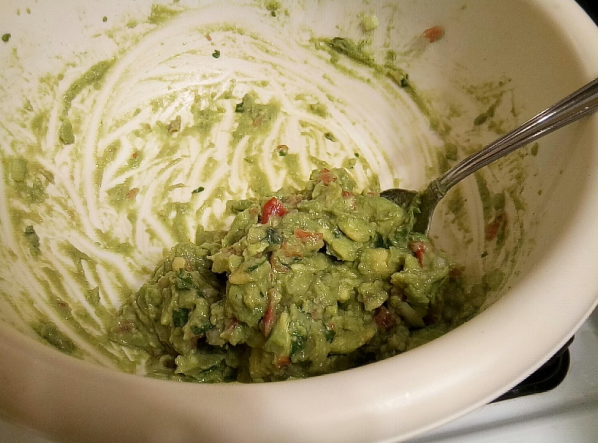 Chunky guacamole.