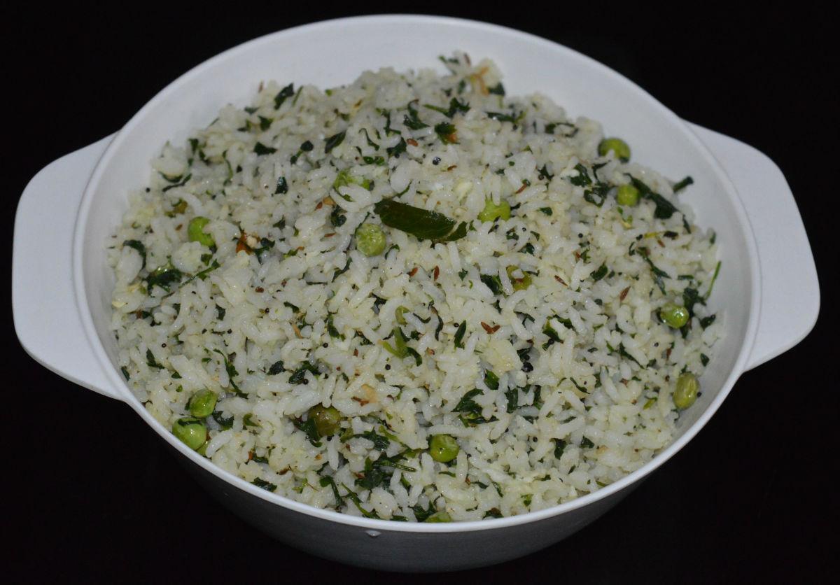 Enjoy eating this awesome methi rice!