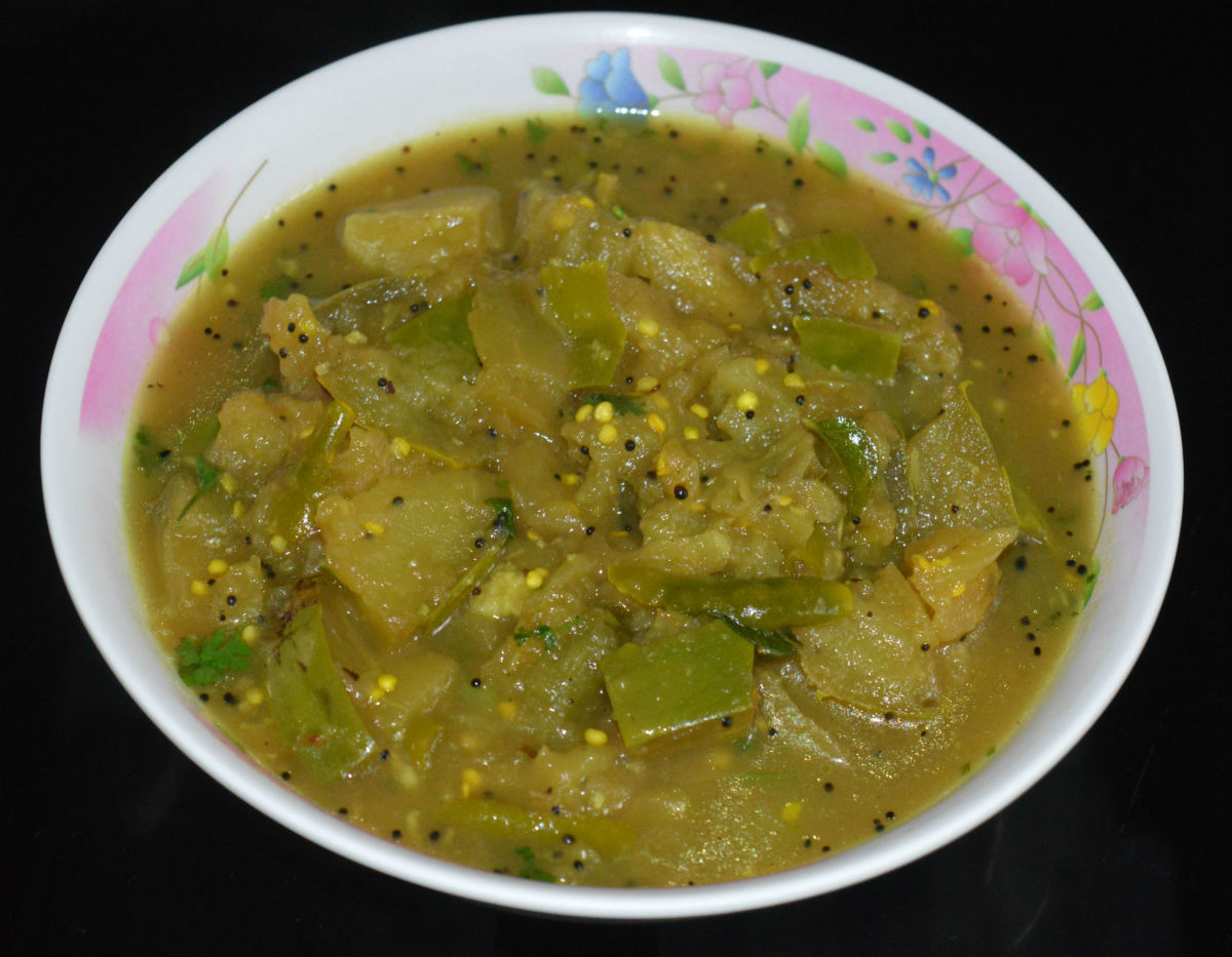 Authentic Brinjal Sambar