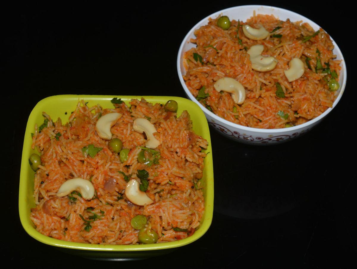 Semiya tomato bath/vermicelli tomato upma