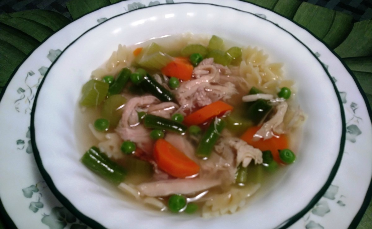 It is easy to make delicious home-made turkey soup.
