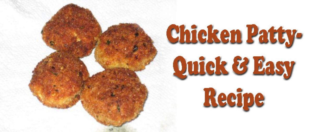 Chicken Patty - Quick and Easy Recipe Using Chicken & Vegetable Leftovers