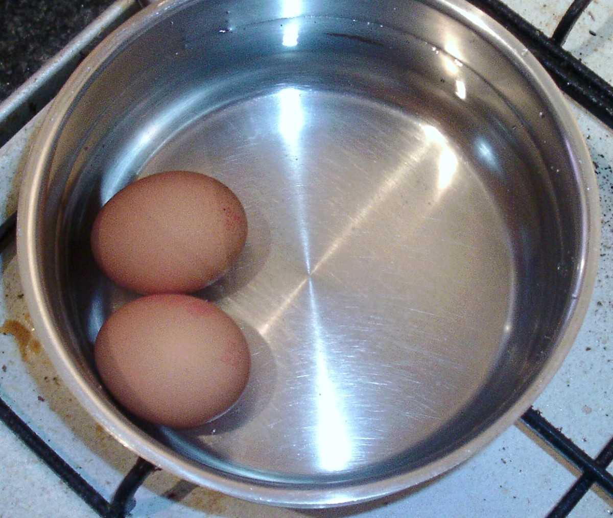 Eggs are put on to boil
