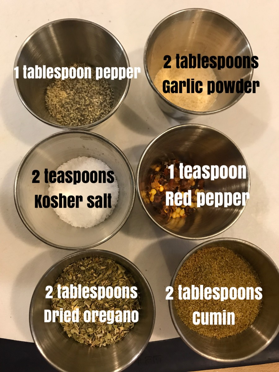 The spices for black bean soup are simple, and each one brings a unique element to the dish. But it's easy—just dump them in!