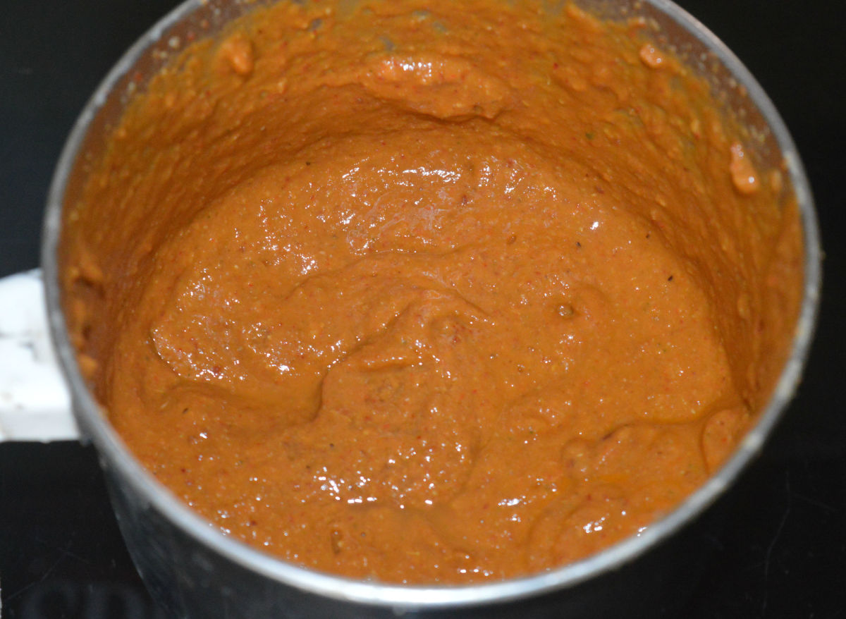 The spice paste.
