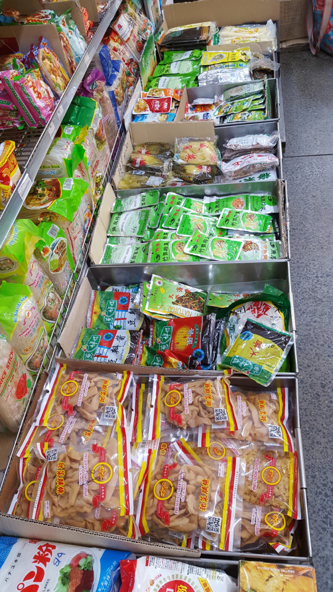 A small range of Chinese preserved vegetables at my local Asian food store. Larger stores would have a much greater selection.
