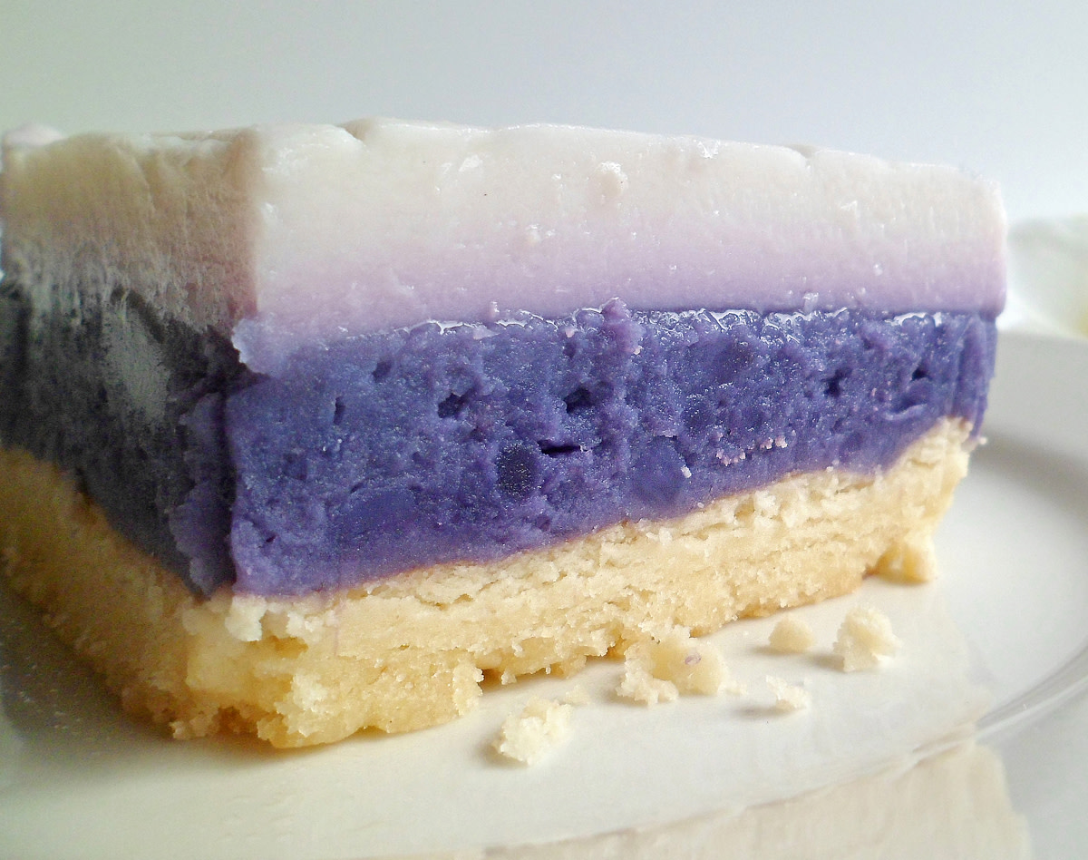 The perfect marriage of purple sweet potato, haupia and macadamia nut.