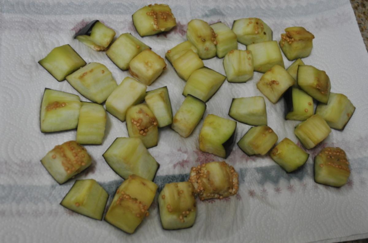 Salted eggplant