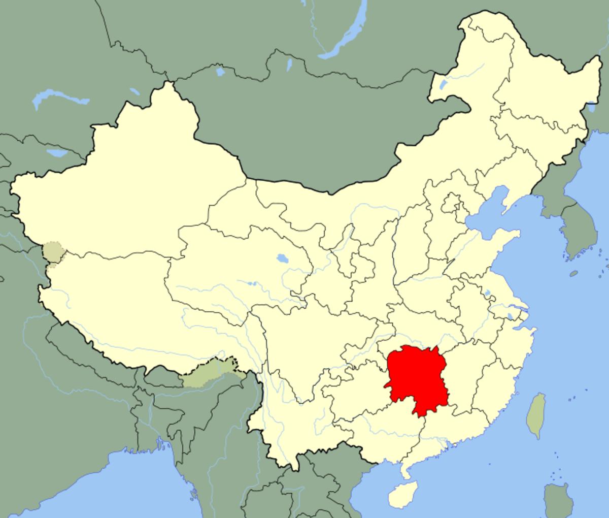 Hunan in red.