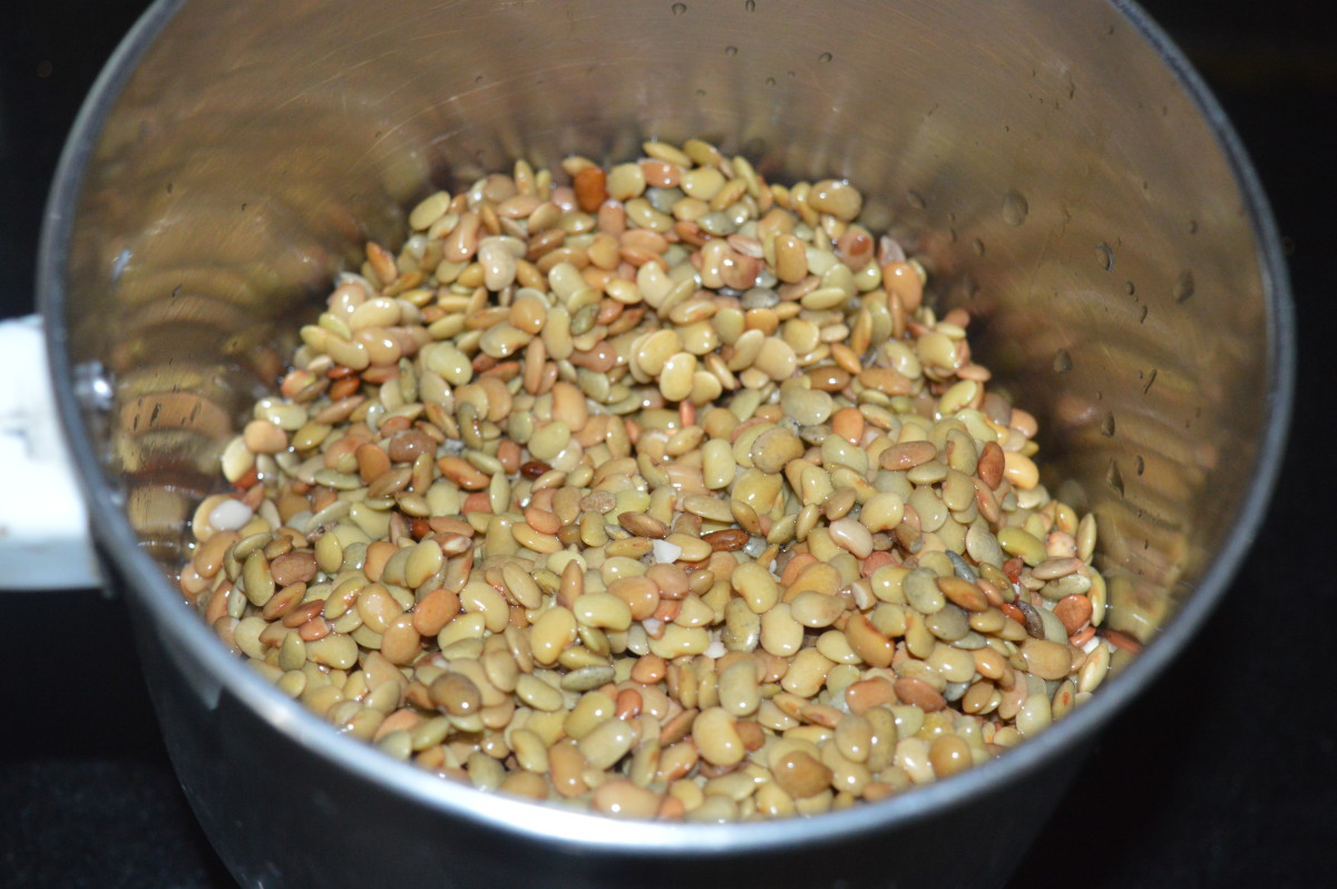 Step one: Grind soaked horse gram adding just enough water to get a near-smooth batter.