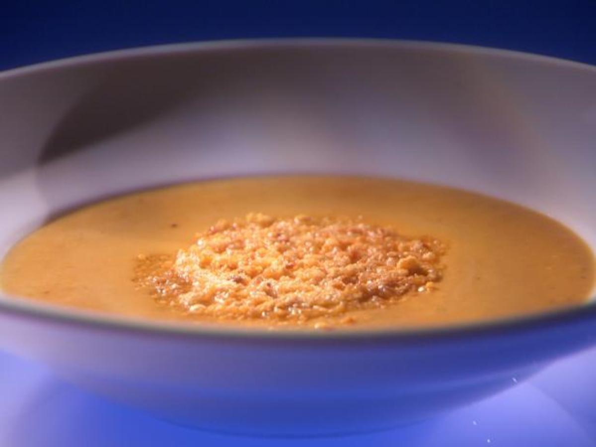 Creamy Pumpkin Soup With Hazelnut Frico