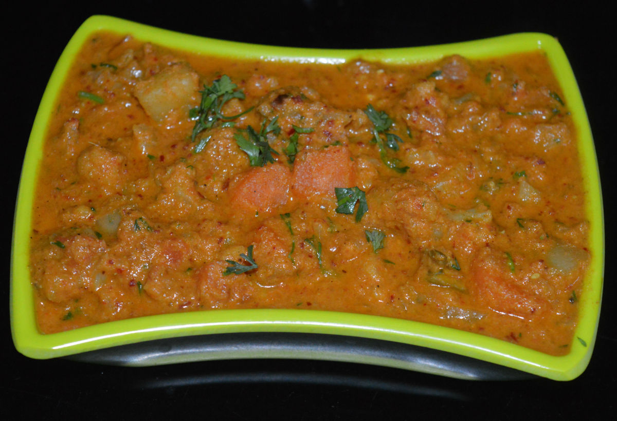 Serve it with hot roti, flat breads, poori, chapati, or fried rice. Enjoy the taste!