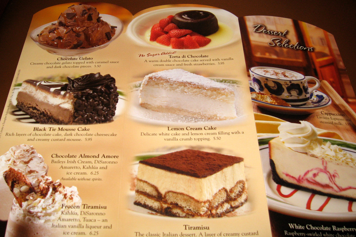 It's hard to resist, so it's better if I don't even look at the yummy pictures on the dessert menu. Once in awhile, I'll skip the sandwich and just have dessert for my lunch. If I've built it up in my mind it sometimes disappoints me.