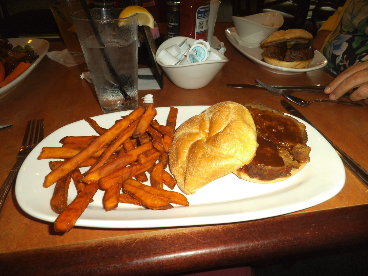 Sigh, fried food, lots of bread, lots of fried meat does not make a healthy meal.