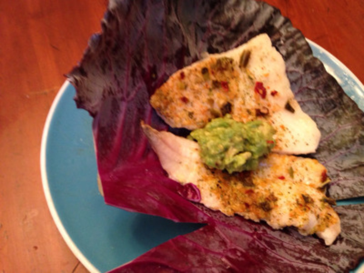 Low Carb Citrus Fish Tacos