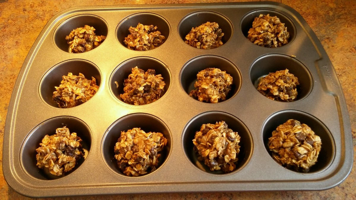 Place balls onto baking sheet or muffin pan (no need to grease).